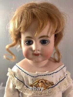13.5 Antique German Bisque Shoulder Head Doll! S & H 740! Elegant! Rare! 17745