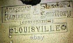 1947 Antique Cast Iron Farmhouse Sink. American Standard Double Drainboard. RARE