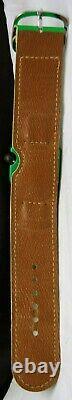 1975 LIP Mach 2000 Roger Tallon GREEN Cuff WATCH VTG SWISS Windup RARE 43338/1
