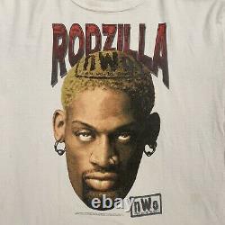 1998 WCWithNWO Dennis Rodman Rodzilla Tee Rare Wrestling Tee Vintage