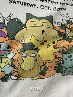 1999 Pokémon Vintage Tee Shirt Rare Nintendo Walmart Promo Snorlax Pikachu Large