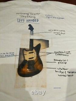 2003 Nirvana Kurt Cobain Unplugged Fender Jagstang Mens Size XL Rare