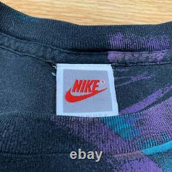 AOP 90s Vintage Nike T Shirt USA Jordan Rap Tee Vtg Single Stitch Rare Sports