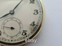 Antique Omega 15 Jewels Gold Plated Pocket Watch VGC Working Rare