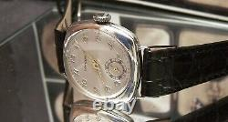 Antique Vintage 1930 Longines Solid Silver Rare Cal 11.84n Wrist Watch Serviced