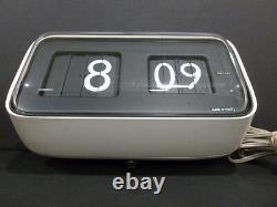 Authentic Solari R. & C Udine Plip Clock (white/black) Hq Rare Working Vtg 6885