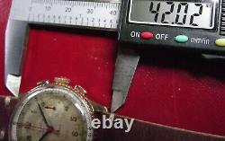 BREITLING CHRONOMAT + 217012 + REF. 769 RARE VINTAGE'40 PINK SOLID GOLD 18 Kt