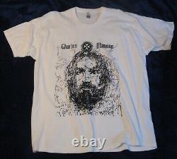 CHARLES MANSON Vintage XL Tee Shirt ULTRA RARE Charlie Serial Killer T-SHIRT WOW
