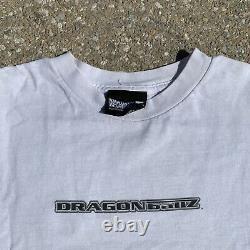 Dragon ball z 1998 vintage shirt goku Rare Print Vegeta Goku Trunks DBZ White