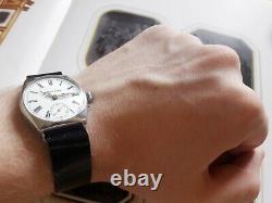 H MOSER Qt Salter Gents Antique Rare Swiss Wrist Watch Enamel Dial 1900s For Men