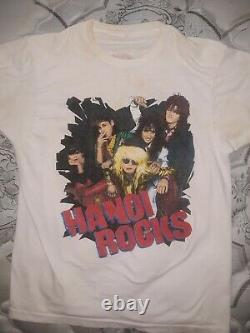 Hanoi Rocks shirt rare vintage XL glam punk Guns N Roses LA Guns Stiv Bators