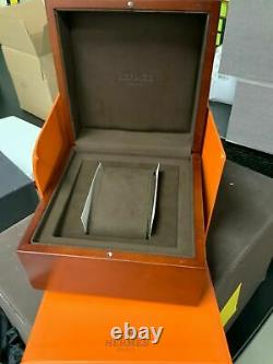 Hermes Rectangular Antique RUNS GREAT 1930's VERY RARE with Wood Box