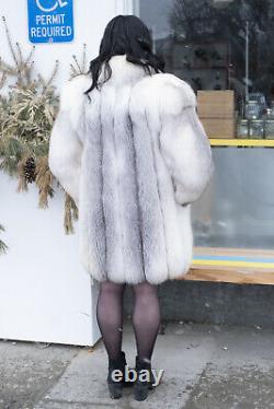 Incredible Vintage Marble Fox Fur Coat RARE Coloring PERFECT CONDITION