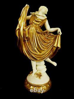 Incredibly Rare Detailed White Porcelain & Gilt Capodimonte Figurine Circa 1790