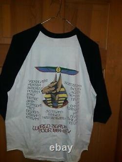 Iron Maiden Powerslave 1985 jersey shirt rare vintage original XL