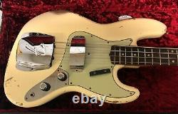 MINT! Fender 60 Jazz Bass Relic Modern Specs Vintage White Custom Shop RARE