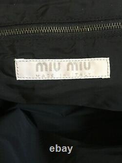 MIU MIU White Leather Bag Handbag Italy VTG Rare BARRIE CHASE COLLECTION
