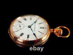 Mega Rare Antique Railroad Crisp 23J 18s Hamilton 946 Unique 2-Tone Pocket Watch