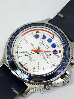 Memosail Line Yacht Timer Chrono Valjoux 7757 Wrist Watch Swiss Mens Very Rare