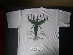 NIRVANA In Utero West Coast 1993-94 Tour T-Shirt Original VINTAGE X-Large Rare