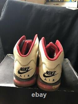 Nike Air Jordan 5 Size 11 1990 White Fire Red Black VTG OG Rare Original