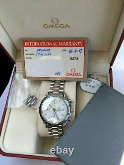 Omega Speedmaster Automatic 17 Jewels Cal. 1155 Rare White Dial Box Papers Omega