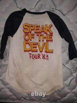 Ozzy Osbourne 1983 Speak of the Devil jersey rare vintage XL