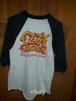 Ozzy Osbourne The Ultimate Sin 1984 Jersey rare vintage XL