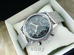 POLJOT Buran Chronograph Rare Vintage Russian Wristwatch cal. 3133, Pilot