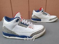 RARENike Air Jordan 3 Retro OG True Blue White/Fire Red 854262-106 Men's SZ8