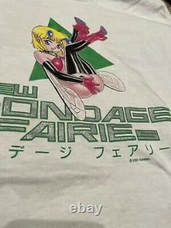 RARE 90s Vintage New Bondage Fairies Anime Shirt Size L