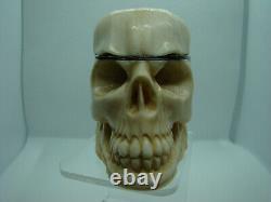 RARE ANTIQUE Memento Mori Skull Verge Fusee Doctors POCKET WATCH 1790 1820