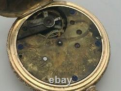 RARE Antique 1880s J. P. Stevens 15J Multicolor 14k Solid Gold 6s Pocket Watch