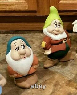 RARE Antique Walt Disney Productions Snow White Seven Dwarfs Ceramic Set 1960's