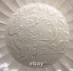 RARE Jin Dynasty 1115-1234 Hebei Ding White Glaze Porcelain Impressed Peacock