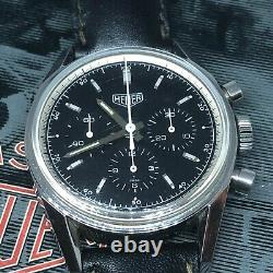 RARE VINTAGE HEUER CARRERA CHRONOGRAPH REEDITION REF CS3111 37 MM Manual Wind