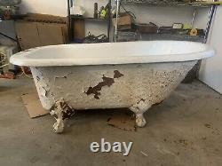 RARE VINTAGE Kohler Antique 1939 Cast Iron 54 Bathtub w 3 Claw Feet