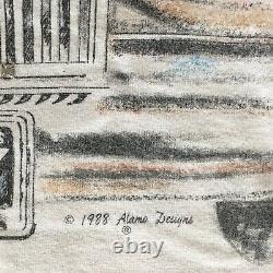RARE VTG 80s TONY ALAMO Beverly Hills T Shirt Rolls Royce Rodeo Dr Jeweled sz XL