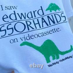RARE Vintage 1990 Edward Scissorhands Promo Movie T-Shirt 90s Screen Star USA