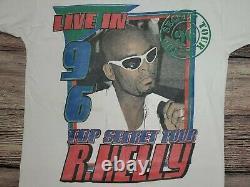 RARE Vintage OG R KELLY LL Cool J Live in 96' Top Secret Tour Hip Hop Rap Tee L