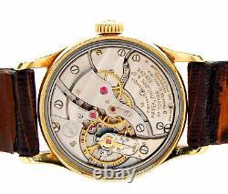 Rare 18k Gold Patek Philippe 2555 Calatrava 1956 Cal 27SC Dress Wrist Watch