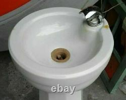 Rare 1940-50's Vintage Porcelain Water Drinking Fountain, 32, Standard Sanitary