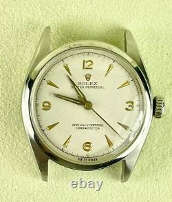 Rare 1950s Rolex Oyster Perpetual Bubbleback 34mm Stainless Steel Reference 6084
