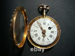 Rare Antique Charles Le Roy Solid Gold, Pearl/ Enamel Repeater Pocket Watch 1770