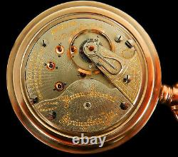 Rare Antique Railroad 18s 23J Illinois Bunn Special Gold Pocket Watch Serviced
