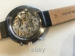 Rare Beautiful Vintage Croton 1878 2 Register Chronograph Swiss Wristwatch