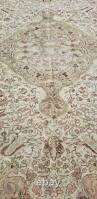 Rare Cr1940-1950's Antique Natural Dye, Wool Pile Legendary Oushak Rug 7x10ft