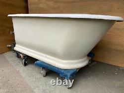 Rare Early 5' Antique Cast Iron White Porcelain JL Mott Bathtub Old Vtg 150-21E