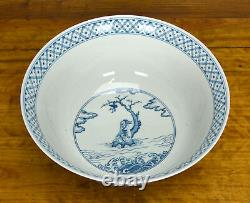 Rare Massive Important Chinese Blue and White 100 Boy Playing Porcelain Bowl 13