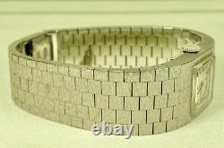 Rare Rolex Vintage Precision Ladies Watch 13mm 18k. White Gold Bracelet 2157